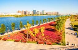 Taiyuan scene. Taken in the Fenghe Park of Taiyuan, shanxi, China Stock Photo