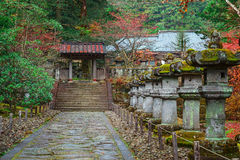 Taiyuinbyo - the Mausoleum of Shogun Tokugawa Iemitsu. The grandson of Ieyasa : the first Shogun of the Tokugawa clan Royalty Free Stock Photo