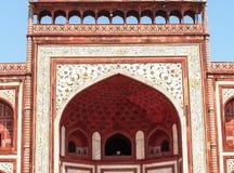 Taj门的色变,泰姬陵,印度 库存照片