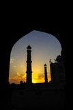 Taj马哈德在阿格拉,印度 图库摄影