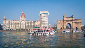 Taj Hotel and Gateway of India Royalty Free Stock Images