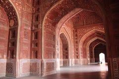 Taj interno Mahal Corridoio Fotografia Stock Libera da Diritti