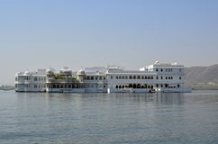 Taj Lake Palace, Udaipur, Rajasthan, India. The Lake Palace was built in 1743-1746. It is made of marble and is situated on Jag Niwas island in Lake Pichola. It Stock Images
