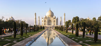 Taj Mahad in Agra, India. This photo is taken in Agra, India. The Taj Mahal, more often meaning Crown of the Palace is an ivory-white marble mausoleum on the Royalty Free Stock Photo
