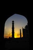 Taj Mahad en Agra, la India Fotografía de archivo