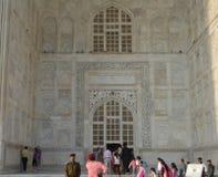 Taj MahalÂ的阿拉伯书法 免版税库存图片