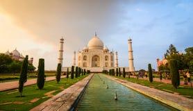 Taj Mahal在阿格拉,印度 库存照片