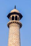 Taj Mahal的尖塔 免版税库存图片