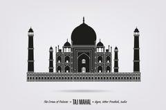 Taj Mahal à Âgrâ illustration stock