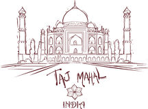 Taj Mahal ındıa stock illustrationer