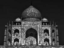 Taj Mahal éclairé par la lune Image libre de droits