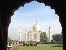 Taj Mahal - Índia. Taj Mahal seen from the distance royalty free stock photography