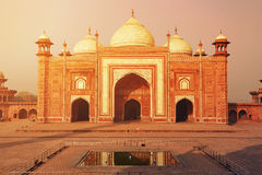Taj Mahal Ινδία, Agra ο κόσμος 7 αναρωτιέται Όμορφο Tajmahal trave Στοκ Εικόνες