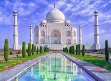 Taj Mahal в Agra, Индии стоковые фотографии rf