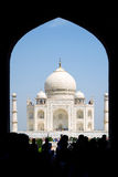 Taj Mahal. Through an arch Royalty Free Stock Image
