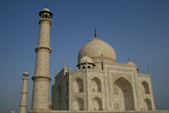 Taj Mahal. The Taj Mahal in the city of Agra in India royalty free stock photo