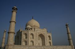 Taj Mahal. The Taj Mahal in the city of Agra in India royalty free stock photography