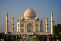 Taj Mahal. With reflection in water pond Royalty Free Stock Photo
