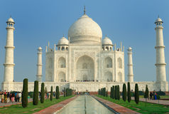 Taj Mahal. White marble Taj Mahal in  India, Agra, Uttar Pradesh Stock Photography