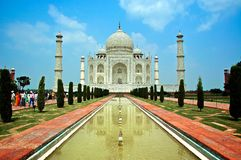 Taj Mahal. The majestic Taj Mahal of Agra, India host 2-4 million tourists a year. Recently selected as one of the new 7 Wonders of the World, the Taj Mahal is