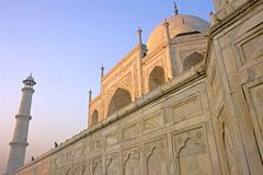 Taj Mahal. This image was shot in Agra, India and shows the Taj Mahal at sunrise. The image was shot with a Nikon F5 and scanned using a Nikon Coolscan 5000 Royalty Free Stock Photography