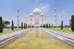Taj Mahal. The Taj Mahal in Agra, India (landscape orientation Royalty Free Stock Photos