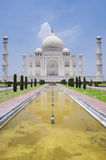 Taj Mahal. The Taj Mahal in Agra, India (portrait orientation Stock Photo