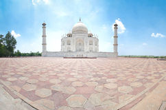 Taj Mahal. Panoramic view of Taj Mahal from Agra, India Stock Images