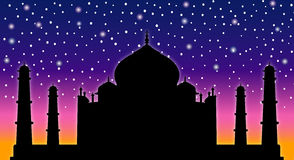 Taj Mahal stock illustration
