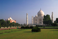 Taj Mahal. Famous Taj Mahal in Agra, India, shrine of princes Mumtaz Mahal Stock Photos