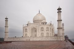 Taj Mahal. In Agra, India, 2010.november stock image