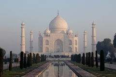 Taj Mahal. The Taj Mahal in Agra, India - January 22, 2012 Royalty Free Stock Photo