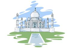 Taj Mahal stock illustrationer