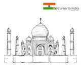Taj Mahal illustrazione di stock