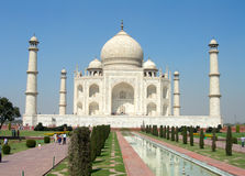 Taj Mahal. A picture of the Taj Mahal from the front Stock Photography