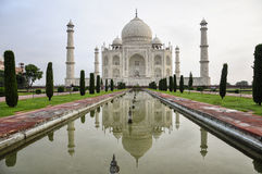 Taj Mahal. Serene view of the Taj Mahal in the early hours of a monsoon morning Stock Images