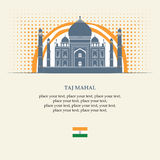 Taj Mahal royaltyfri illustrationer
