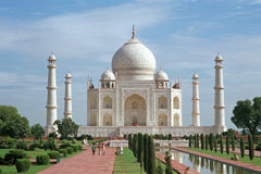 Taj Mahal. In Agra, India on a sunny day Royalty Free Stock Photo