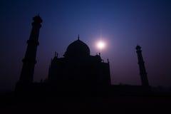 Taj Mahal. Night view of the Taj Mahal (underexposed day shot) - Agra, Uttar Pradesh, India Royalty Free Stock Photos