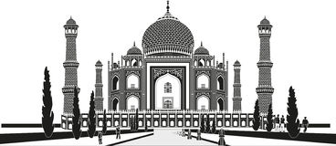 Taj Mahal stock illustratie