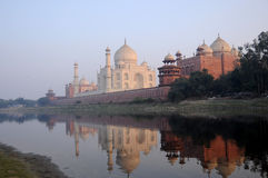 Taj mahal. In the evening. , india, unesco world heritage site Royalty Free Stock Photos