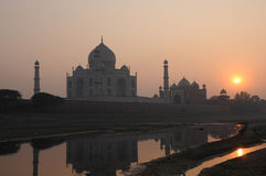 Taj mahal. At sunset. , india, unesco world heritage site Stock Photo