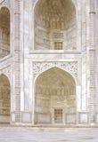 Taj mahal. Monumental apertures of Taj Mahal, marvelous white marble sanctuary near Agra, India Stock Photo