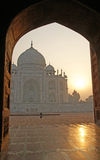 Taj Mahal. Early morning view on beautiful Taj Mahal in Agra, India Stock Photo