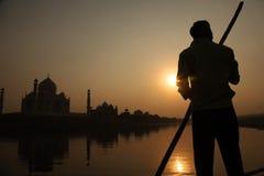 Taj Mahal am Abend Lizenzfreie Stockfotografie