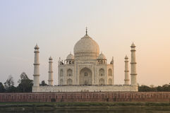 Taj Mahal from across the Yamuna river Royalty Free Stock Image