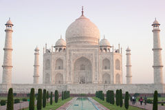 Taj Mahal ad alba 1 Immagine Stock Libera da Diritti