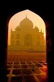 Taj Mahal ad alba immagine stock libera da diritti