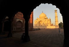 Taj Mahal in the afternoon. The mausoleum of Taj Mahal before sunset Royalty Free Stock Photos