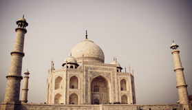 Taj Mahal, Agra, Ινδία με το φίλτρο Στοκ φωτογραφίες με δικαίωμα ελεύθερης χρήσης